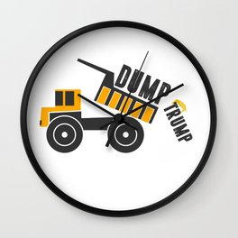 Dump Trump 2 Wall Clock