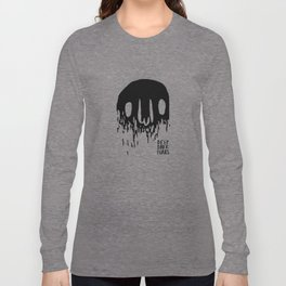 Disappearing Face - Black Long Sleeve T-shirt