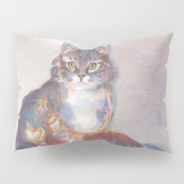Purling Puss Pillow Sham