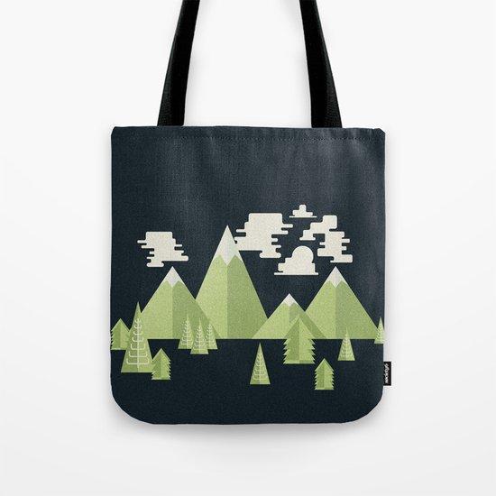 Triangle Mountain Range at Night Tote Bag