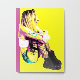 Just Chilling (Pink & Yellow) Metal Print