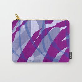 Purple Streaks & Blocks Abstract Art Carry-All Pouch