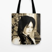 asian Tote Bags featuring Asian Beauty by Design Windmill
