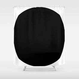 One - a minimal, simple circle abstract Shower Curtain