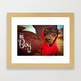 Big Boy Framed Art Print