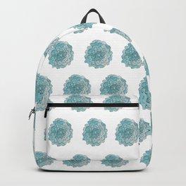 happy blue watercolor flowers Backpack