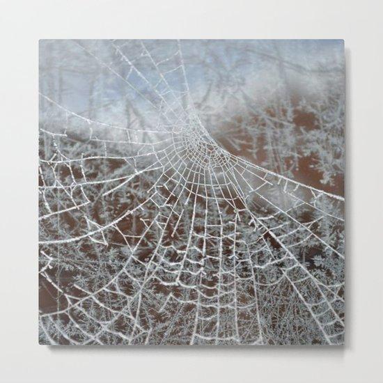 Snowed up Web  Metal Print