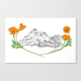 Shasta Poppies - Pop of Color Canvas Print