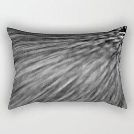 Slate Gray Pixel Wind Rectangular Pillow