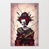 pain Canvas Prints featuring Pain by En Tze