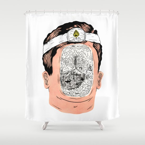 Journey to the center of the earth Shower Curtain