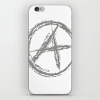 sons of anarchy iPhone & iPod Skins featuring Anarchy by Collectivo 2