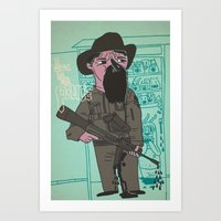 police Art Prints featuring le police by liquidpig