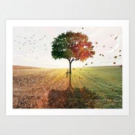 Two Seasons by GEN Z Art Print