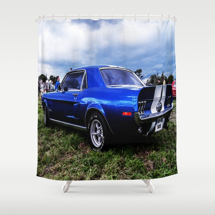 68 Mustang Shower Curtain By Catherinedoolan