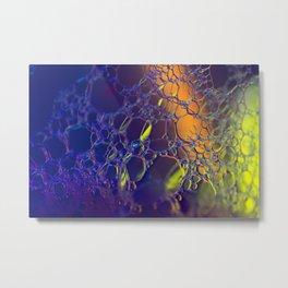 Blacklight Bubbles Metal Print