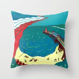 Red Arrows, Bournemouth Throw Pillow