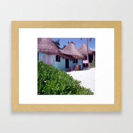 Tulum Cabanas Framed Art Print
