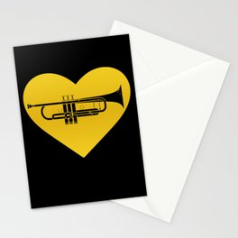 Trumpet Heart Musician Trumpeter Jazz Stationery Cards