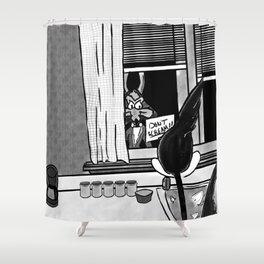 Shazam X Looney Tune Shower Curtain