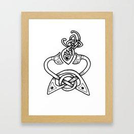 Claddagh B&W Framed Art Print