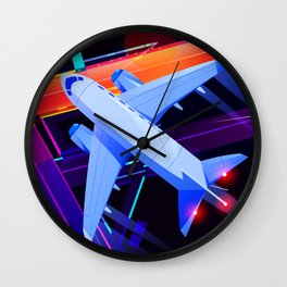 Synthwave Space #41 Wall Clock