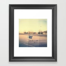 Cart Polaroid Framed Art Print