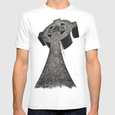 Celtic Cross Claddagh MEDIUM White Mens Fitted Tee