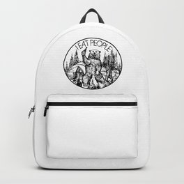 CAMPING BEAR - I EAT PEOPLE Backpack
