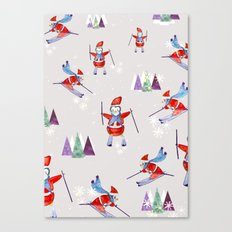 Snow Penguins Canvas Print