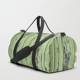 Rustic mint green grunge wood panels Duffle Bag