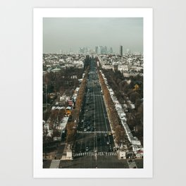 Champs Elysees Perspective Art Print