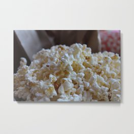 Microwave Popcorn Metal Print