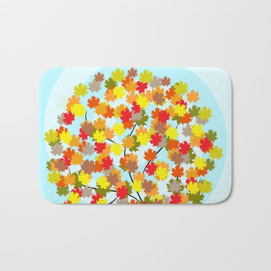 Tree in autumn Bath Mat