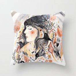 Crows & I Throw Pillow