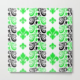Fluer de Lis Custom Green Metal Print