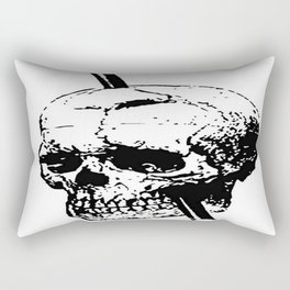 The Skull of Phineas Gage Vintage Illustration Rectangular Pillow
