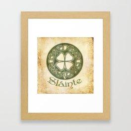 Slainte or To Your Health Framed Art Print