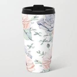 Pretty Succulents by Nature Magick Metal Travel Mug