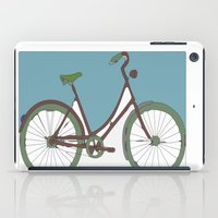 bicycle iPad Cases featuring Bicycle by March Hunger