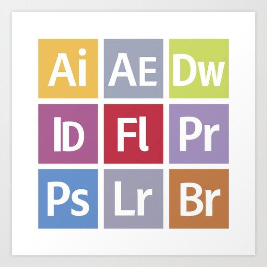 Adobe Icons Art Print