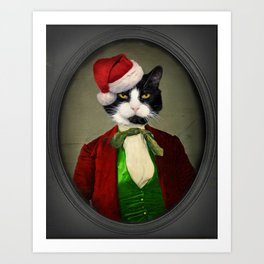 Puccini goes to a Christmas Party Art Print