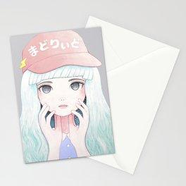 Zazi-White Stationery Cards