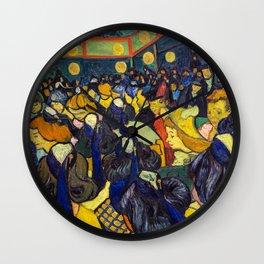 Vincent Van Gogh - The ballroom at Arles Wall Clock