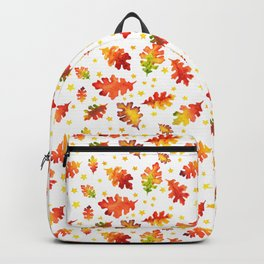 Autumn Nights Leaf and Star Pattern Backpack