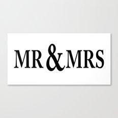 Mr & Mrs Canvas Print