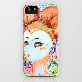 intrusive thoughts iPhone Case