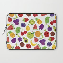 Funny colorful happy cute summer fruit pattern Laptop Sleeve
