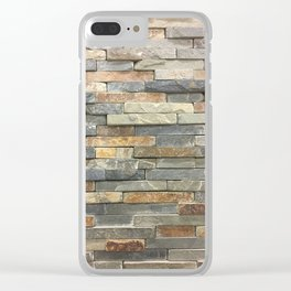 Stone, Fashion Textures Clear iPhone Case