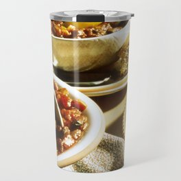 Chili with Cornbread  Travel Mug